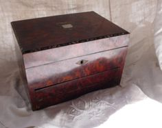 Antique Wooden Travel Case Writing Slope by ancienesthetique
