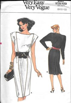 Vintage 1980s Vogue Sewing Pattern 9597 by SewAddicted2SewMuch