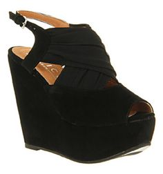 These are impressive, gorgeous, and they look comfy! Worship my Wedge from Office in black