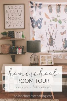 Homeschool Room Tour Inspired by Nature and Literature - Charlotte Mason<br> Kids Homework Room, Kids Homework Station, Kids Room, Organiser Planning, Preschool Rooms, Waldorf Preschool, Preschool Classroom, Preschool Ideas, Learning Spaces