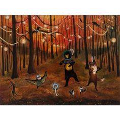 Autumn Splendor print by Jahna Vashti $16