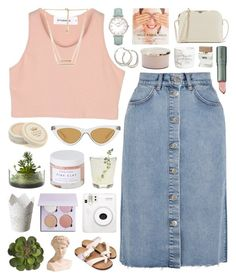 """You know careers take off, just gotta be patient"" by justonegirlwithdreams ❤ liked on Polyvore featuring StyleNanda, M.i.h Jeans, Tocca, Herbivore, Threshold, Le Specs, Ethan Allen, CLUSE, Chronicle Books and Forever 21"