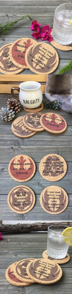 Star Wars Quotes Cork Coaster - Star Wars Gift #starwars #coaster #home