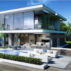 "Mega Mansions on Instagram: ""Beautiful Modern Home 
