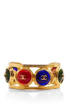 Vintage Chanel Cc Gripoix Cuff by What Goes Around Comes Around for Preorder on Moda Operandi