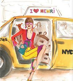 taxi e compras