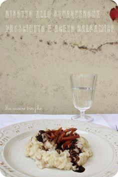 Risotto squaquerone prosciutto e aceto balsamico