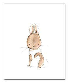 This Bunny Print by trafalgar's square is perfect! #zulilyfinds