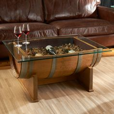 Wine Barrel Furniture | Gorgeous DIY Wine Barrel Coffee Table (with Pictures)
