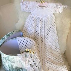 Heirloom Christening dress crochet pattern