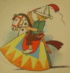 Alte Kinderreime - Bilderbuich 50er Antique Rocking Horse, Rocking Horses, Elsa Beskow, Alter, Kindergarten, Antiques, Pink, Happiness, Old Nursery Rhymes