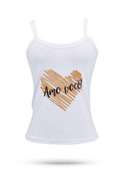Camisetas Diversos Modelos - Amo Você MO8862