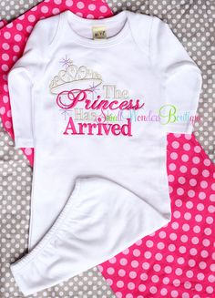 Hey, I found this really awesome Etsy listing at http://www.etsy.com/listing/163651015/the-princess-has-arrived-baby