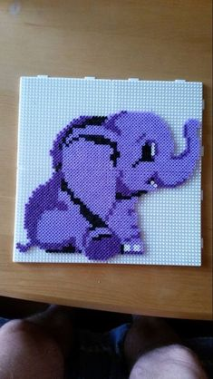 Elephant perler beads More Perler Bead Designs, Hama Beads Design, Diy Perler Beads, Perler Bead Art, Melty Bead Patterns, Pearler Bead Patterns, Perler Patterns, Beading Patterns, Beaded Cross Stitch