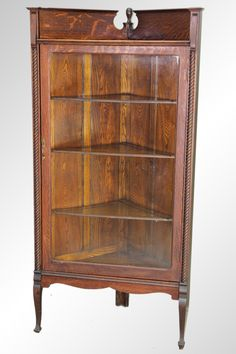 Marvelous Antique Victorian China Cabinet | Antique Oak Victorian Corner China  Cabinet Corner China Cabinets, Furniture
