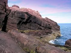 Cliffs at Arbroath, Scotland. Where Jamie and his crew try to rendezvous with the Voyager