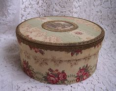 Antique French Fabric Box