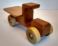 Items similar to Road Train Wooden Toy Truck on Etsy