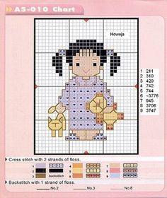 Le bambine da ricamare | Cross Stitch-Cross Stitch-Cross-十字绣 Punto Croce Punto-Kreuzstitch-Point-Croix-вышивк