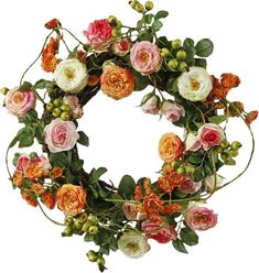 Faux Ranunculus Wreath