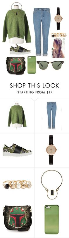 """""""Untitled #29"""" by indira-uzdenova ❤ liked on Polyvore featuring beauty, Abercrombie & Fitch, Valentino, Barbour, GUESS, By Malene Birger and Ray-Ban"""