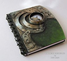Steampunk Notebook Fantasy Tech 15 par diarmentcreations sur Etsy