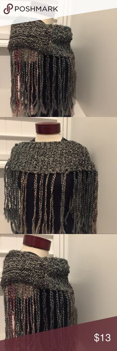 ETSY WRAP SHAWL TASSLE CROCHET SCARF Gently used handmade purchased from etsy  I#425069004996 etsy Accessories Scarves & Wraps