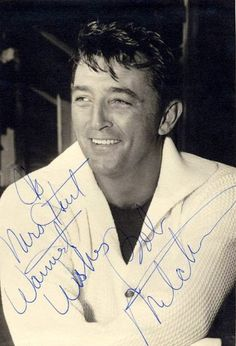 Robert Mitchum (08/06/1917-07/01/1997)favorite actor famous for tough guy roles and charming roles. He is #23 in the  top 25 male actors. He died of lung cancer and was cremated.