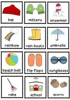 Seasons Sort (Pocket Chart)
