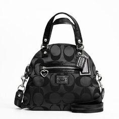 Coach Daisy Signature C Foldover Crossbody Bag Black