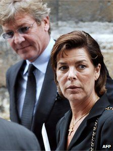 File pic: Princess Caroline of Monaco and her husband Prince Ernst August of Hanover at a funeral in Paris, July 2007