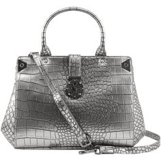 f4821210b017 Versace Jeans Womens Crocodile Print Handbag Silver ( 160) ❤ liked on  Polyvore featuring bags