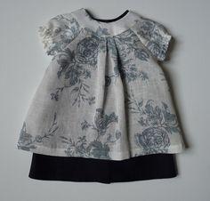 la robe d'Annie robe chasuble en lin et sur-robe en lin fleuri www.cathy-mamy.com
