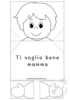 Biglietto pop up per la festa della mamma: con la tecnica pop up potete in modo semplice creare questo biglietto con la scritta Ti voglio bene Mamma