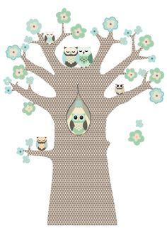Hippe, originele kinderkamer behangbomen en behangfiguren. Bestel nu rechtstreeks bij de ontwerper!