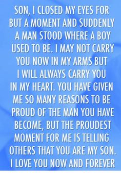 Now Quotes, Life Quotes Love, Family Quotes, Great Quotes, Inspirational Quotes, Love My Son Quotes, Quotes For Your Son, Army Mom Quotes, Son Sayings