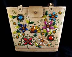 Vintage Enid Collins Original Jewel Garden Bucket Purse. My mother had this one.  Love the memories...