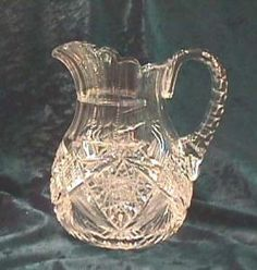 AMERICAN BRILLIANT CUT GLASS PITCHER