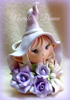 Polymer Clay Fairy, Cute Polymer Clay, Polymer Clay Dolls, Polymer Clay Miniatures, Polymer Clay Creations, Clay Fairies, Flower Fairies, Porcelain Clay, Cold Porcelain