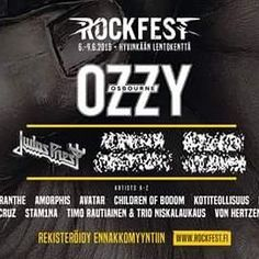 FINLAND! We are happy to announce that we have been confirmed to play at The Rock Fest in Hyvinkää over the weekend of 6. - 9.6.2018, alongside names like Ozzy Osbourne, Judas Priest, Children of Bodom & plenty more! For more info, see: https://www.rockfest.fi/ #amaranthe #maximalism2018 #rockfest #finland