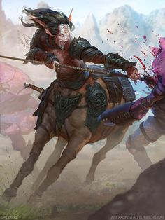 Artist: Alex Konstad - Title: Unknown - Card: Plains Warrior Ulysses (Windstreak)
