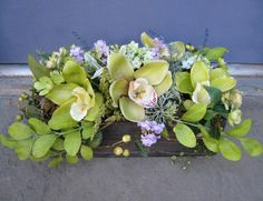 Green Goddess Silk Floral Arrangement by DreamingPhoenix on Etsy, $44.00