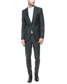 ZARA - MAN - MICRO-STRUCTURED CHARCOAL GREY SUIT
