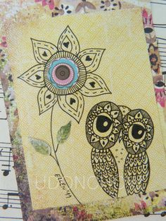 Owl,doodle | owl doodle aceo | To Create