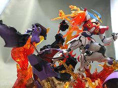 HGBF 1/144 Build Burning Gundam with Tamashii Flame and Impact Ground effects - Gundam Kits Collection News and Reviews