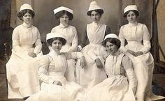 How did these nurses ever get any work done?  I would have dropped from heat stroke and misery in these uniforms.