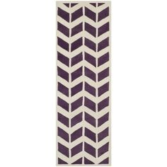 Safavieh Hand-Tufted Purple/ Ivory Runner 2 -3  x 7  - CHT746F-27