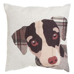 Add a touch of comfort to your home with a stylish cushion from Wilko. Shop our wide selection of cushions and cushion covers in our soft furnishings range. Animal Cushions, Dog Cushions, Dog Pillows, Burlap Pillows, Dog Quilts, Animal Quilts, Applique Patterns, Quilt Patterns, Custom Pillows