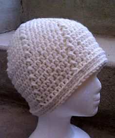 Twist and Shout Beanie - free crochet pattern in all sizes, chunky yarn and 5.5mm hook, by Heidi Yates