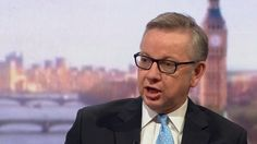Justice secretary Michael Gove outlines problems associated with remaining in EU.